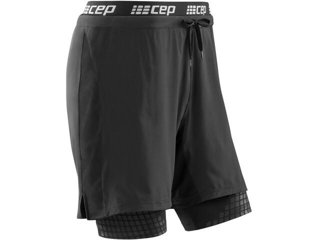 cep 2 In 1 Pantalones Cortos de Entrenamiento Hombre, black